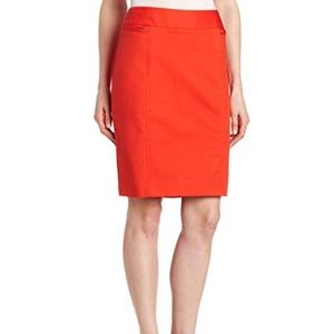 Rafaella Tangerine Pencil Skirt w/ Belt Loops